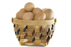 Korb der Eier Lizenzfreie Stockbilder