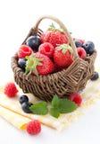 Korb der frischen Frucht Stockfotografie
