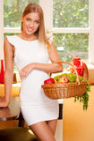 Korb der gesunden Diät Lizenzfreies Stockfoto