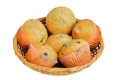 Korb der Muffins Stockfotografie