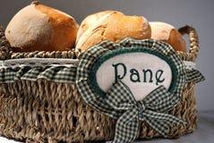 Korb des Brotes lizenzfreie stockfotografie