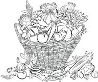 Korb des Gemüses Stockfotografie