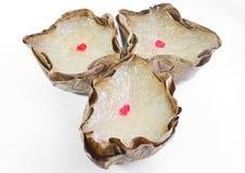 Korb-förmige chinesische Puddings Stockbild