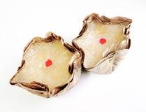 Korb-förmige chinesische Puddings Lizenzfreies Stockbild