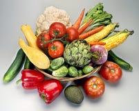 Korb-Gemüse Stockfoto