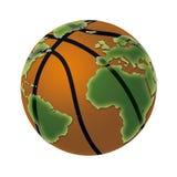 Korb-Kugel-Welt Stockfoto