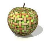 Korb mit Apfel Lizenzfreies Stockbild
