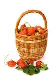 Korb mit Erdbeere Stockfoto