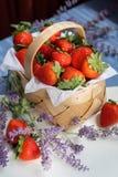 Korb mit Erdbeeren Lizenzfreie Stockfotos