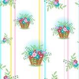 Korb mit flowers5-01 Stockbilder