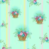 Korb mit flowers15 Stockfotografie