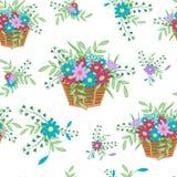 Korb mit flowers16 Lizenzfreies Stockbild