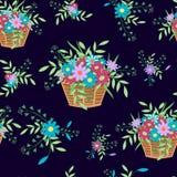 Korb mit flowers5black Lizenzfreies Stockfoto