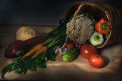 Korb mit Gemüse Stockfotos