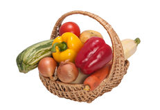 Korb mit Gemüse Lizenzfreies Stockbild