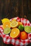 Korb mit Zitrusfrucht Lizenzfreie Stockbilder