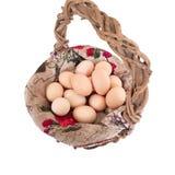 Korb voll der Eier Lizenzfreie Stockfotografie