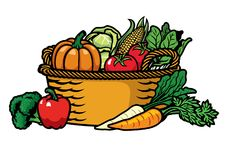 Korb voll des Gemüses lizenzfreie abbildung