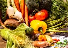 Korb voll des Gemüses nach einem harvet lizenzfreies stockbild
