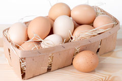 Korb von Eiern Stockbilder