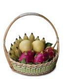Korb von Früchten Lizenzfreie Stockbilder
