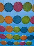 KorbBambusbuntes im blauen Himmel Lizenzfreie Stockbilder