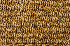 Korbweidenbortengewebebeschaffenheit, Strohmakrohintergrund Lizenzfreie Stockfotografie