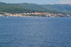 Korcula镇和海岛-克罗地亚 免版税图库摄影
