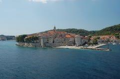 korcula Хорватии стоковая фотография rf
