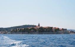 Korcula, Хорватия Стоковая Фотография RF
