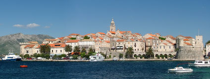 Korcula. The fortified city of Korcula in Croatia royalty free stock photos