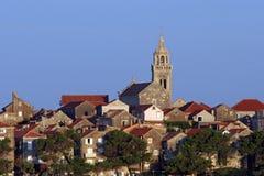 Korcula, adriatisches Meer in Kroatien Lizenzfreies Stockfoto