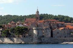 Korcula, adriatisches Meer in Kroatien Lizenzfreies Stockbild