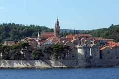 Korcula, adriatisches Meer in Kroatien Stockbilder