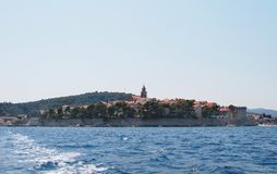 Korcula, Croatia. Panoramic of Korcula in a summer day, Croatia Royalty Free Stock Photography