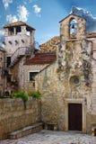 Korcula. Croatia. Church and Marco Polo tower in Korcula. Croatia Stock Photos