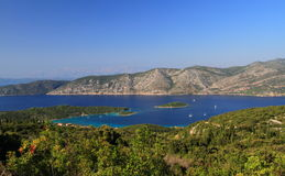 Korcula island in the adriatic sea near kneze royalty free stock photos