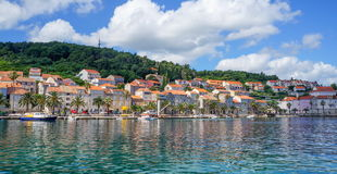 Korcula island in Croatia, Europe. Summer destination Royalty Free Stock Images
