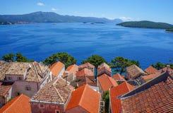 Korcula island in Croatia, Europe. Summer destination Stock Images