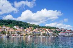 Korcula island in Croatia, Europe. Summer destination Royalty Free Stock Images