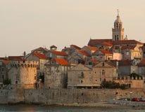Korcula, Katedrala Svetog Marka, Schloss, Kroatien lizenzfreie stockfotografie