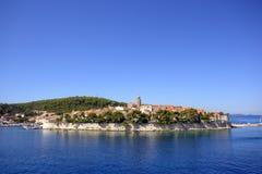 Korcula, Kroatië Stock Foto's
