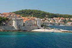 Korcula, Kroatien Stockfotos
