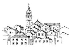 Korcula, Kroatien stock abbildung