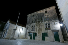 Korcula by night Stock Photo