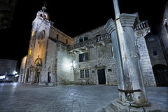 Korcula by night royalty free stock images