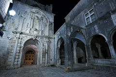 Korcula by night Royalty Free Stock Photos