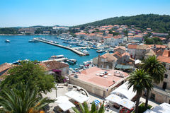 Korcula old city on the side of the harbor Royalty Free Stock Photography