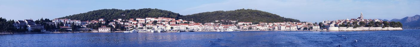 Korcula panorama royalty free stock images