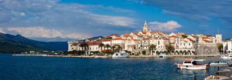 Korcula panorama Stock Photo